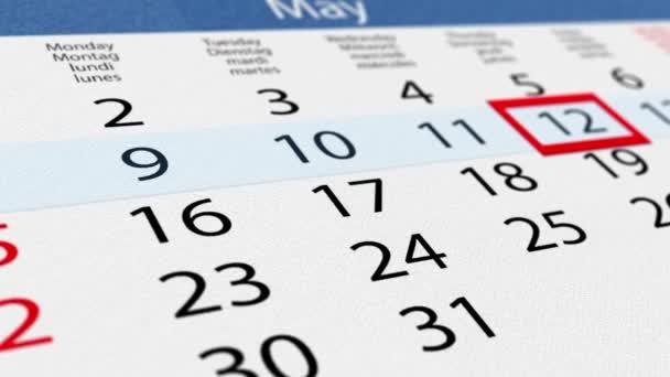 Lepenky kalendář s přesunem ukazatele