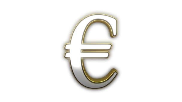 Euro symbol bezešvá smyčka