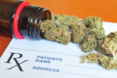 Dry medical marijuana buds