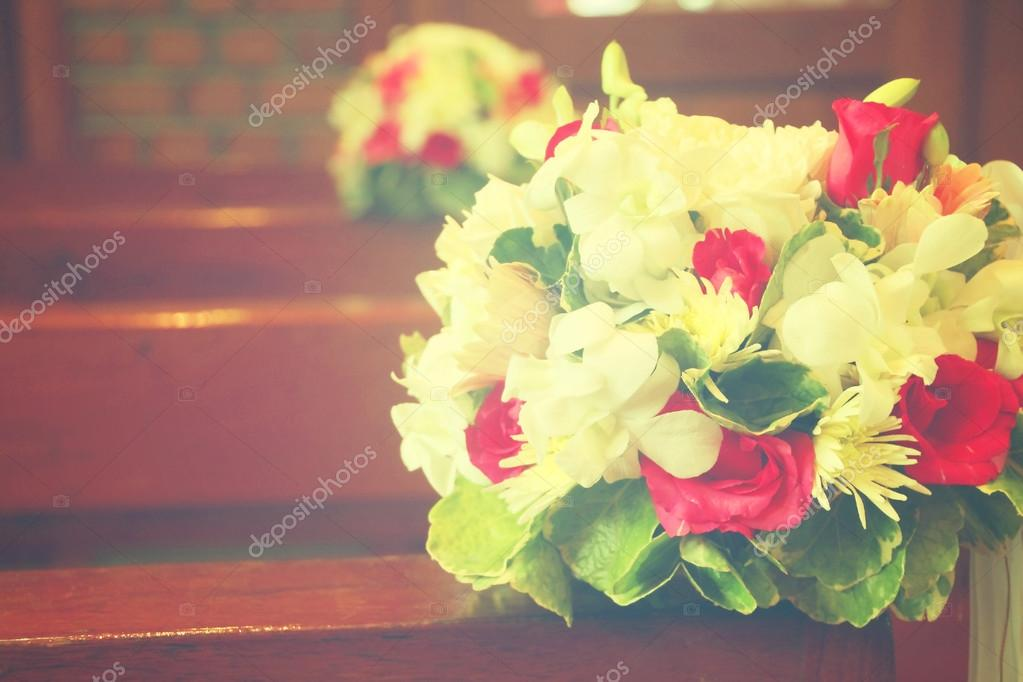 Schone Blumen Hochzeit Dekoration In Der Kirche Prozess In Anste