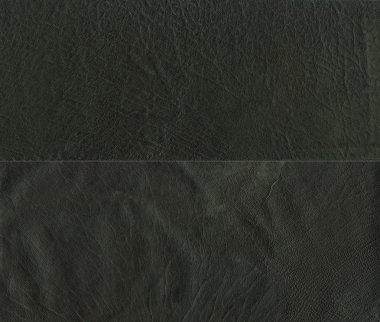 Set of black leather texture