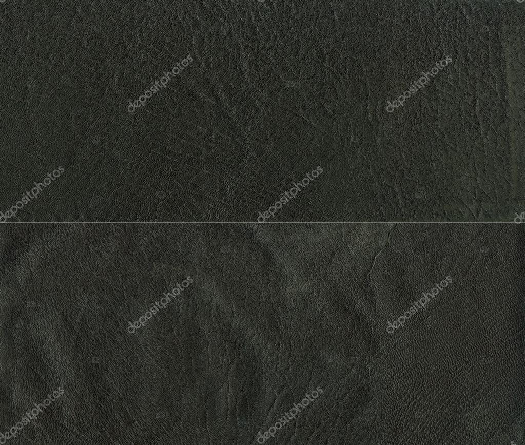 Set of black leather texture