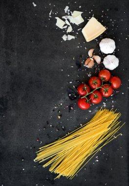 Food frame, Pasta ingredients