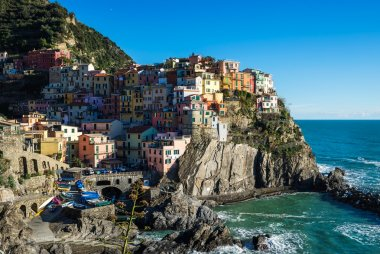 Scenic view of Manarola village