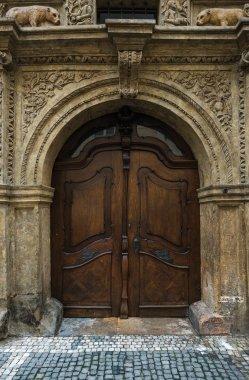Medieval oak wood door
