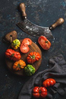 Fresh colorful ripe heirloom tomatoes
