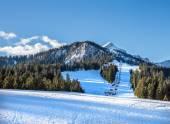 Fotografie Mountainbike-Pisten und Skilift am Hausberg oben nahe Garmisc