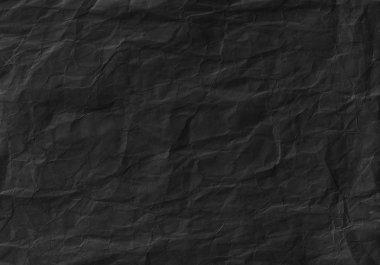 Black crumpled paper texture