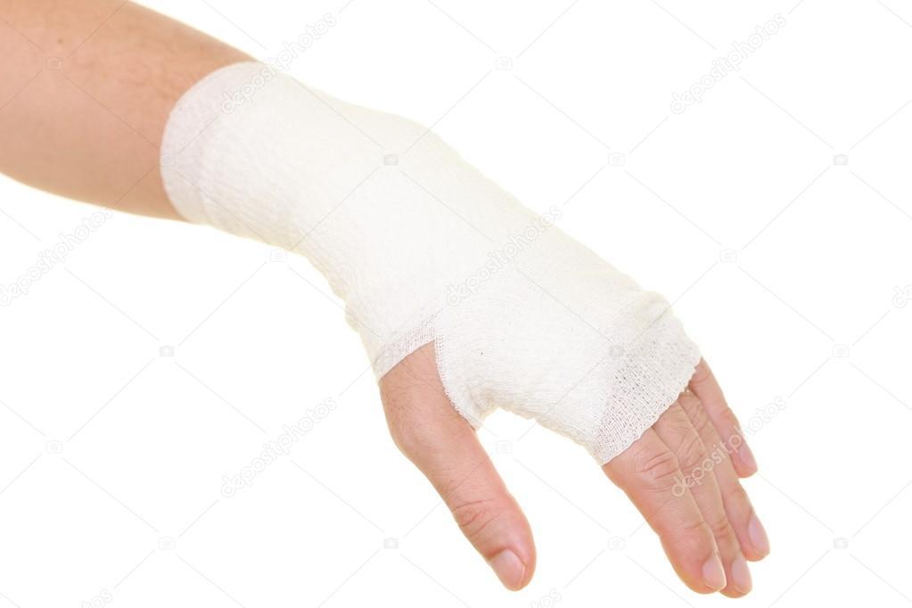 verstauchten Handgelenk — Stockfoto © deeblue #56879187