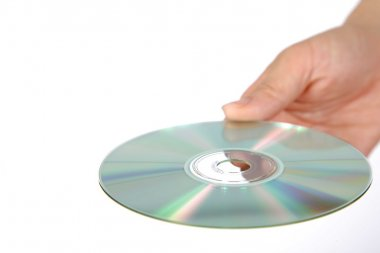 Hand with media disc