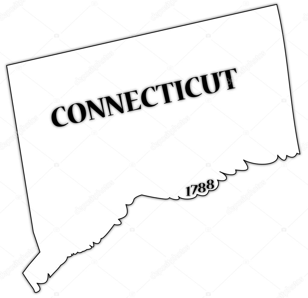 Connecticut State and Date — Stock Vector © Davidscar #57077129