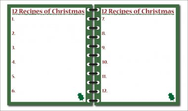 12 Recipes of Christmas Notepad