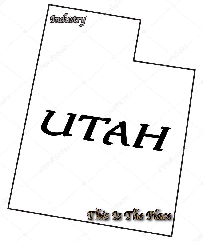 utah state slogan and motto stock vector davidscar 76046475
