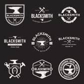 Photo Vector set of blacksmith vintage logos