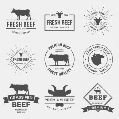 set of premium beef labels
