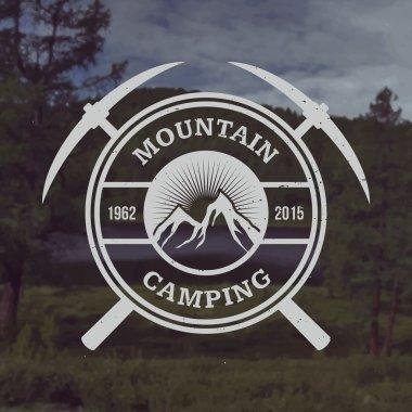 Vector camping emblem