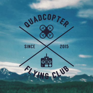 Quadcopter flying club emblem
