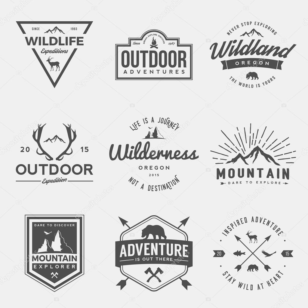 set of wilderness and nature exploration