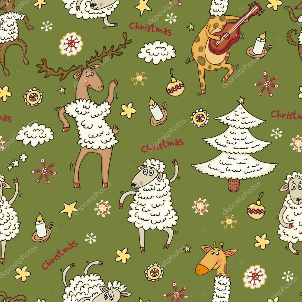 Animal vector Christmas sheep