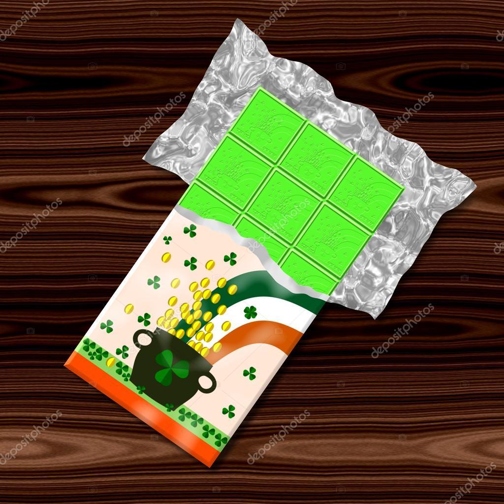 Saint Patrick Grün Schokolade Computer Generierte Grafik