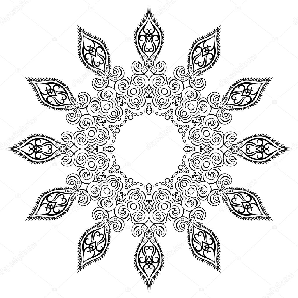 Mandala, tribal ethnic ornament, vector art