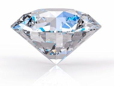3d Isolated Diamond Background