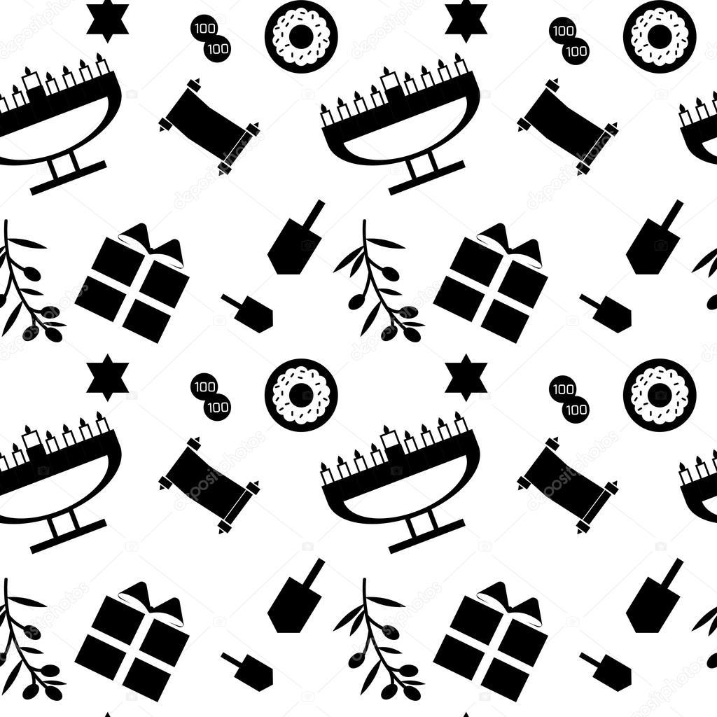 Blanco y negro de patrones sin fisuras con los principales símbolos ...