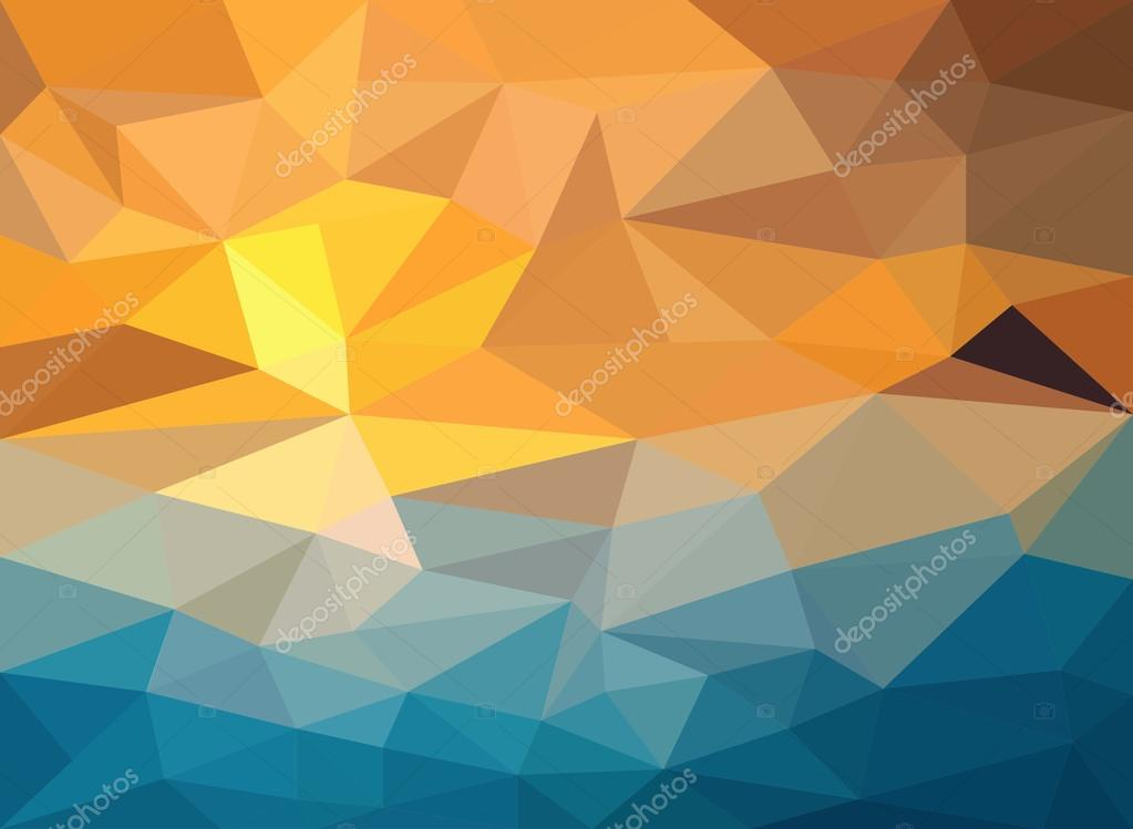 Fondo Geométrico: Fondo Geométrico Con Colores Al Atardecer