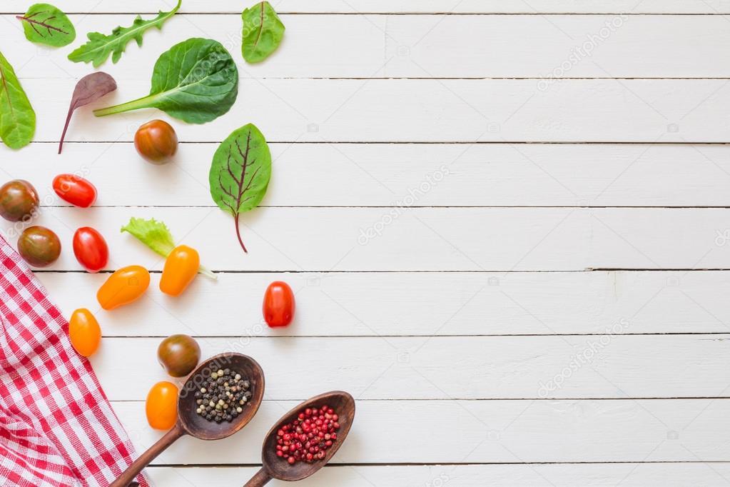 Fondo de cocina saludable cocinar frescos ingredientes for Cocina saludable