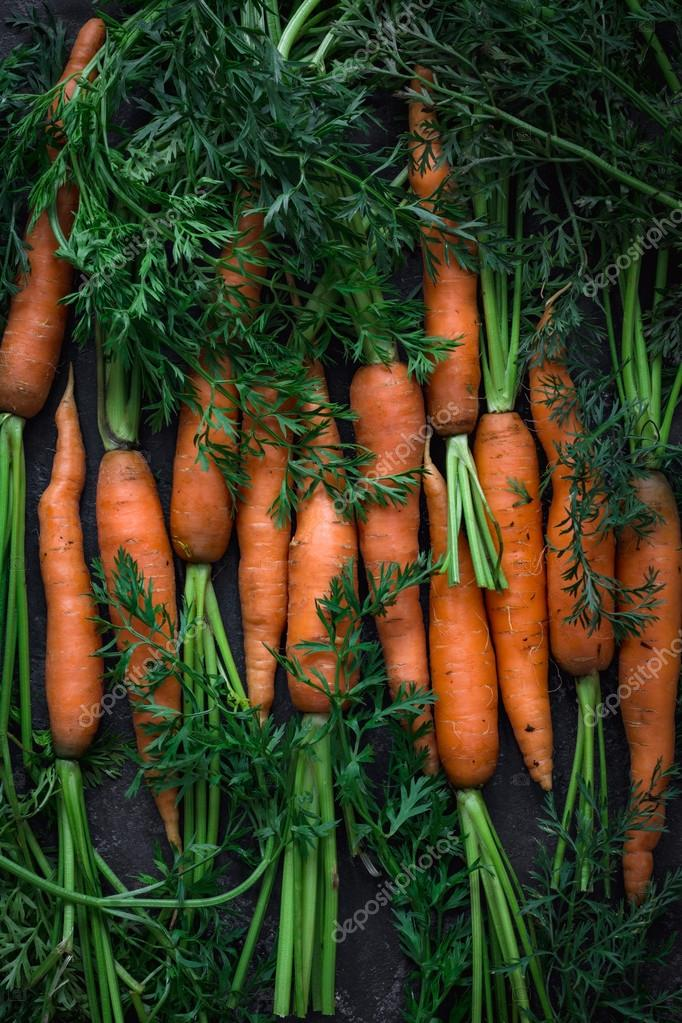 Fresh raw carrots