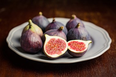 Group of figs on plate