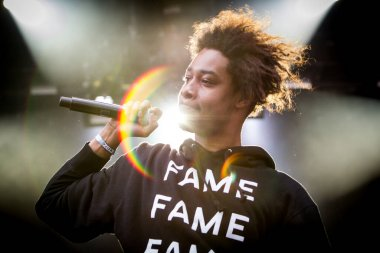 Danny Brown performing on stage during Best Kept Secret music festival
