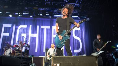 Foo Fighters performing at Lowlands music festival