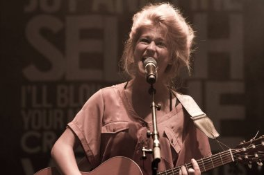 Selah Sue performing on stage during  music concert