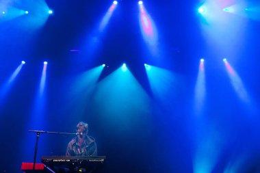 James Blake performing at Rock Werchter music festival