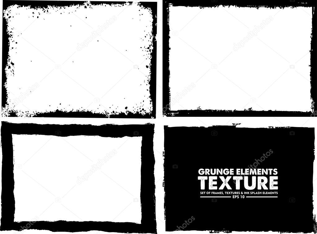 Grunge marco textura conjunto - plantilla de diseño abstracta ...