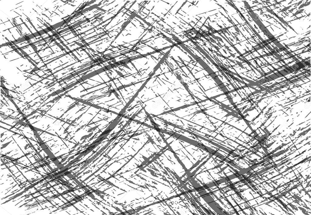 Grunge Linien Textur - abstrakte isoliert Vektor Vorlage - einfach ...