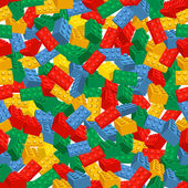 Seamless colorful background made of Lego pieces