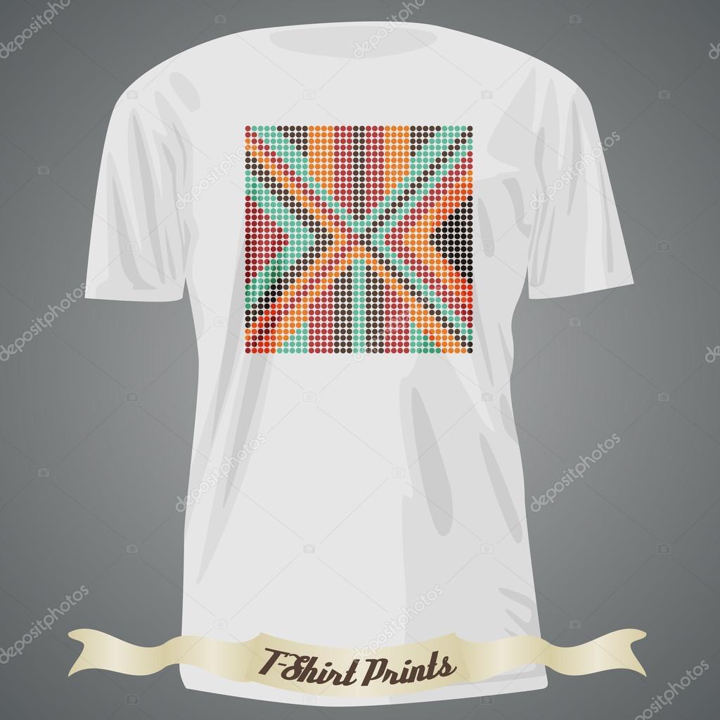 T-Shirt Design mit abstrakten gepunktetes Muster — Stockvektor ...