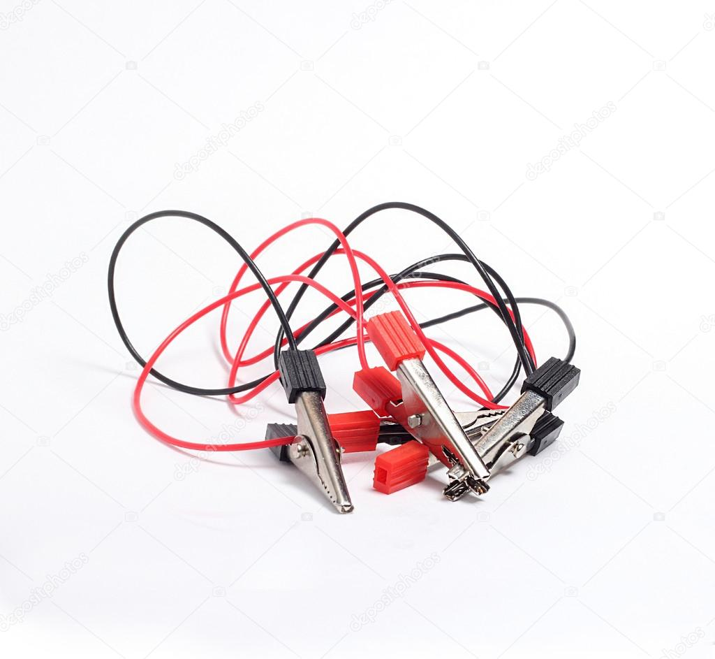 electric clamps with wires red and black — Stock Photo © OutSaider ...