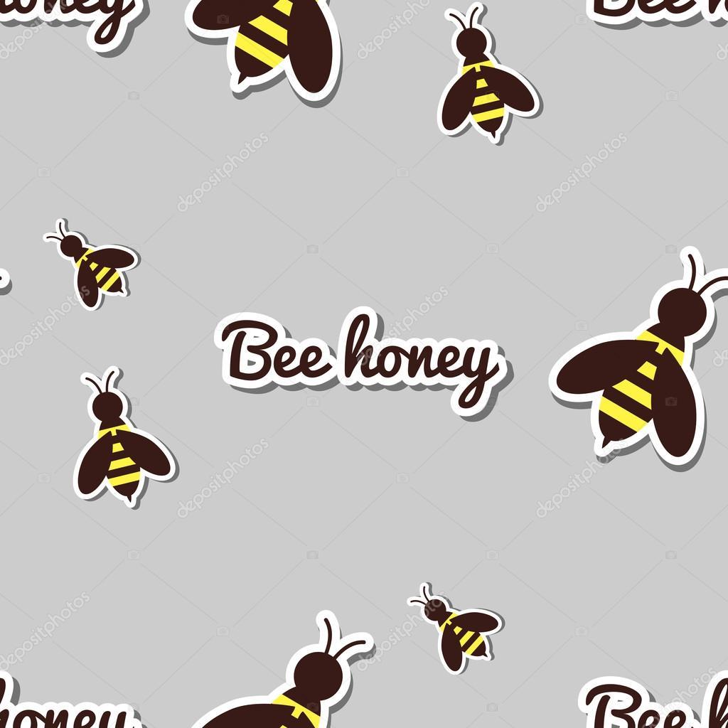 Patrón sin fisuras de las abejas — Vector de stock © your-solution ...