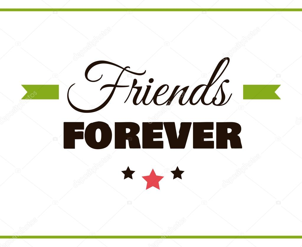 Friends FOREVER Label — Stock Vector