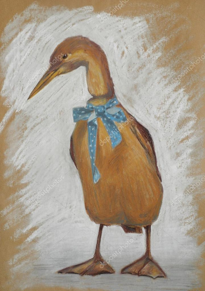 Illustration de pastel canard vintage photographie - Illustration canard ...