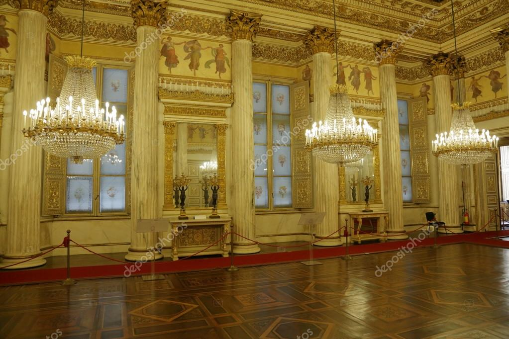 TURIN, ITALY   JUNE 3, 2016: The Interior Of The Magnificent Royal Palace U2014  Photo By Ironstuff