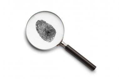 Magnifying Glass Fingerprint