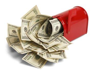Money Stuffed Mailbox