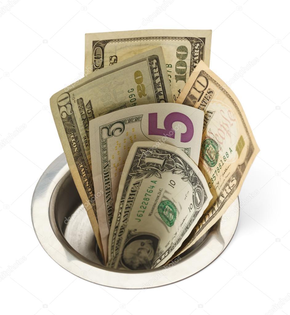 Money Down Drain Stock Photo 169 Pixelrobot 69683713