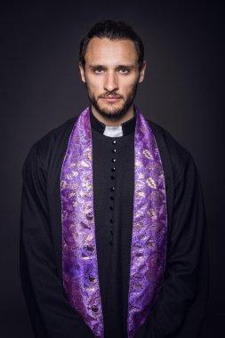"Картина, постер, плакат, фотообои ""портрет молодого священника "", артикул 51813857"