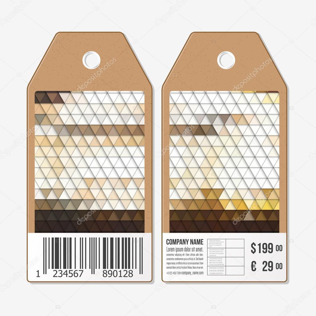 Vektor-Tags, die auf beiden Seiten, Karton Verkauf-Etiketten mit ...