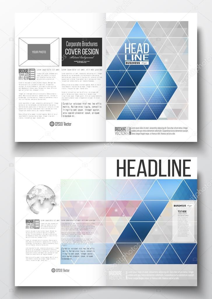 Reihe von Business-Vorlagen für Broschüre, Magazin, Flyer, Broschüre ...